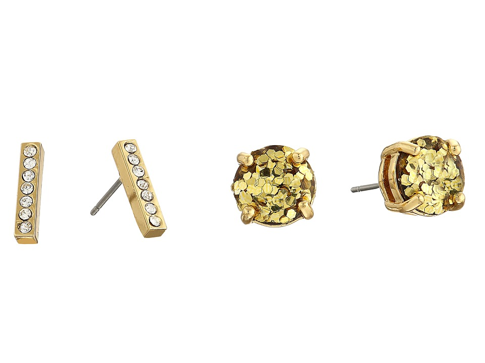 Kate Spade New York - Pave Bar Two-Piece Studs Earrings Set (Gold/Multi) Earring