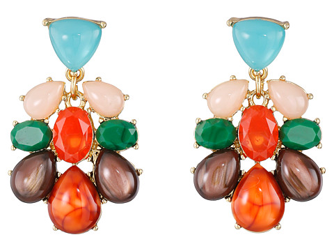 Kate Spade New York - Fine Art Charm Statement Earrings (Multi) Earring