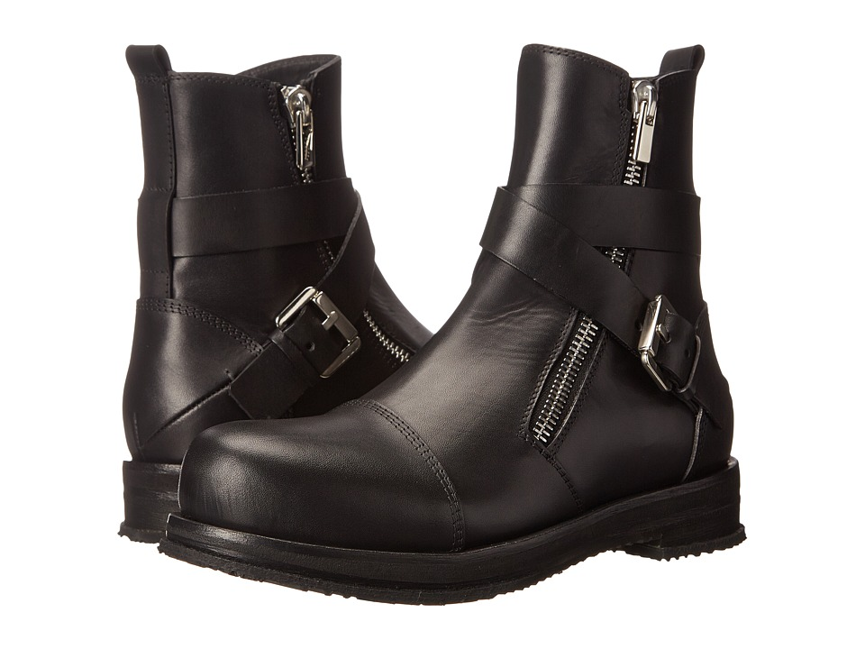 CoSTUME NATIONAL - Cross Buckle Boot (Nero) Men's Boots