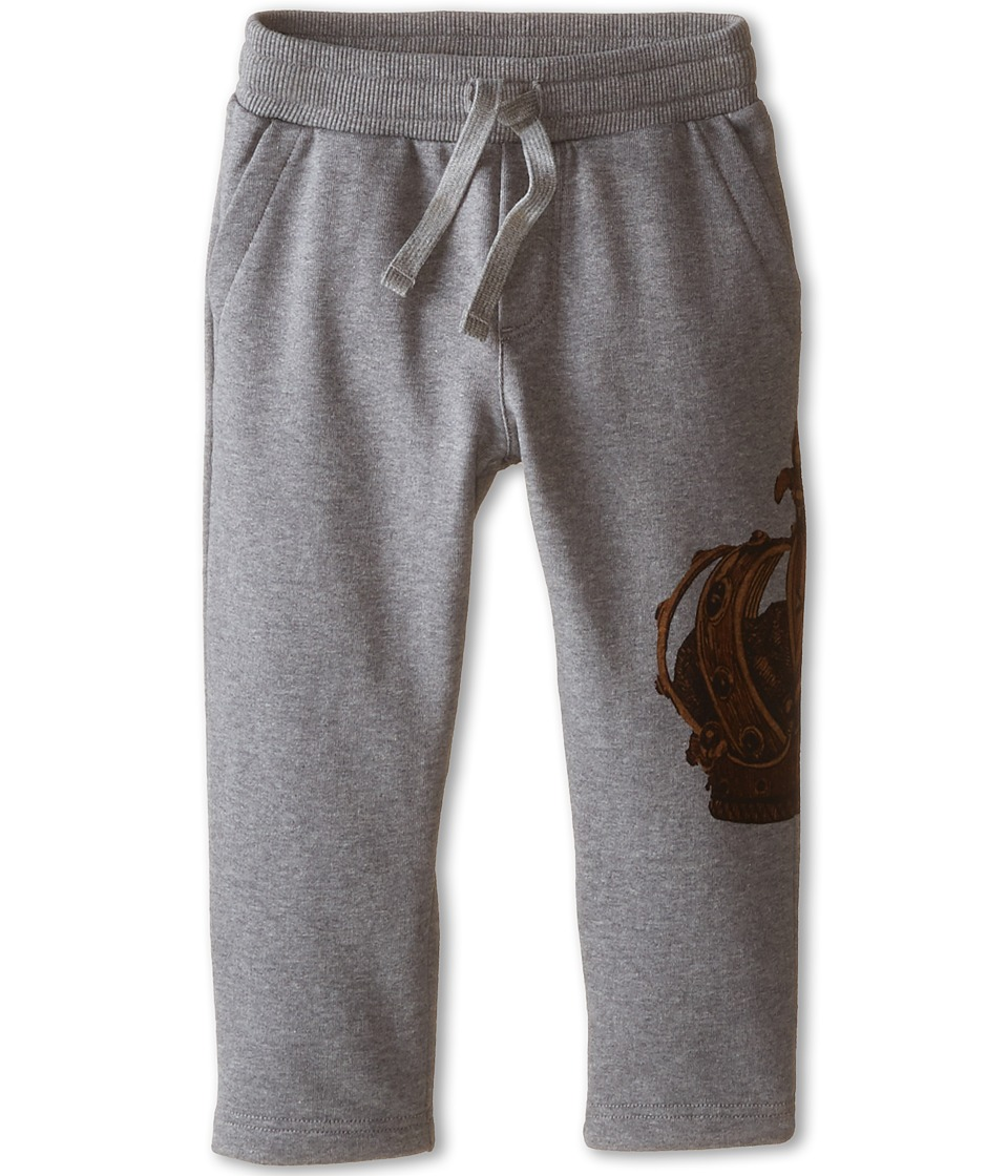 Dolce & Gabbana Kids - Crown Print Sweatpants (Toddler/Little Kids) (Grey/Gold Crown) Boy's Casual Pants