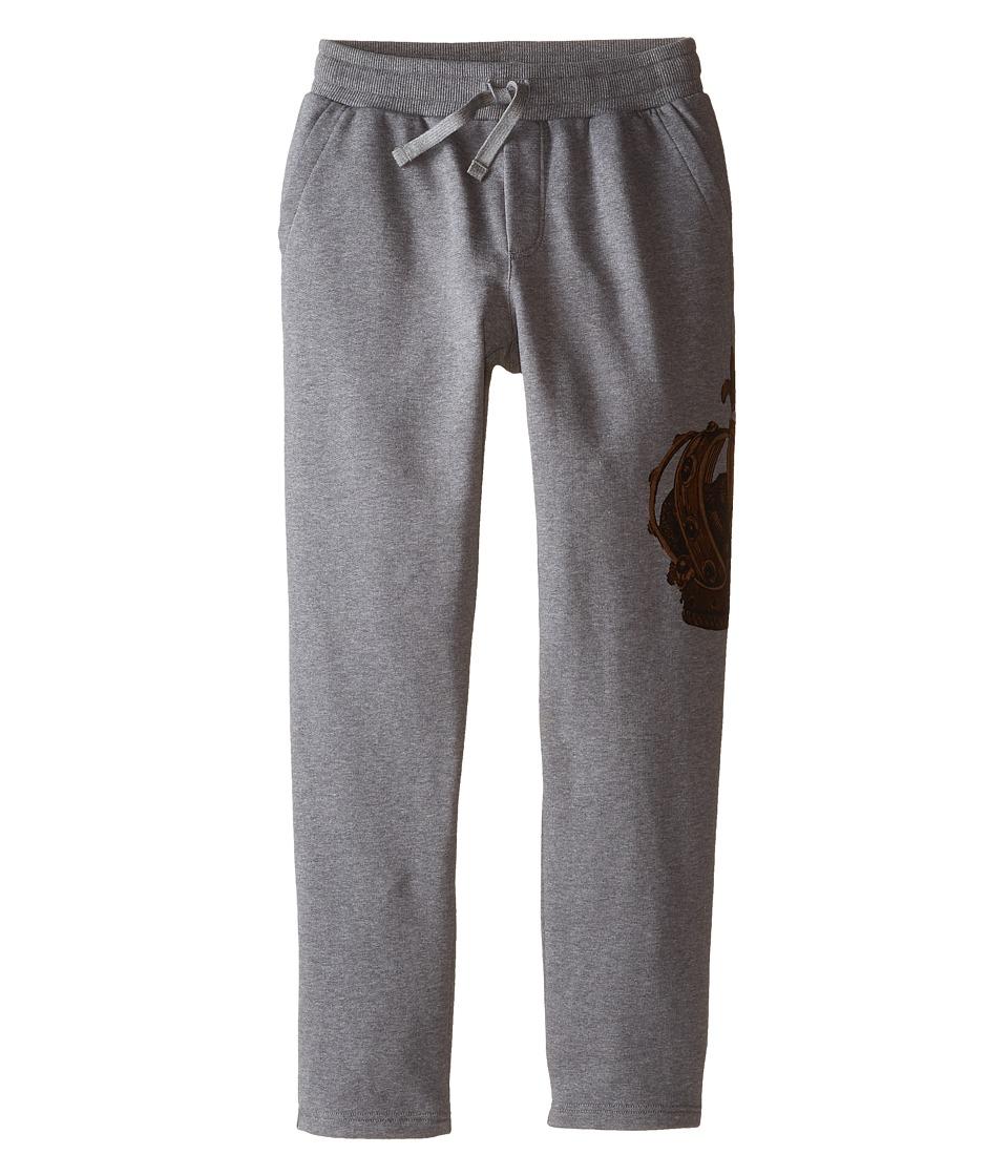 Dolce & Gabbana Kids - Crown Print Sweatpants (Big Kids) (Grey/Gold Crown) Boy's Casual Pants