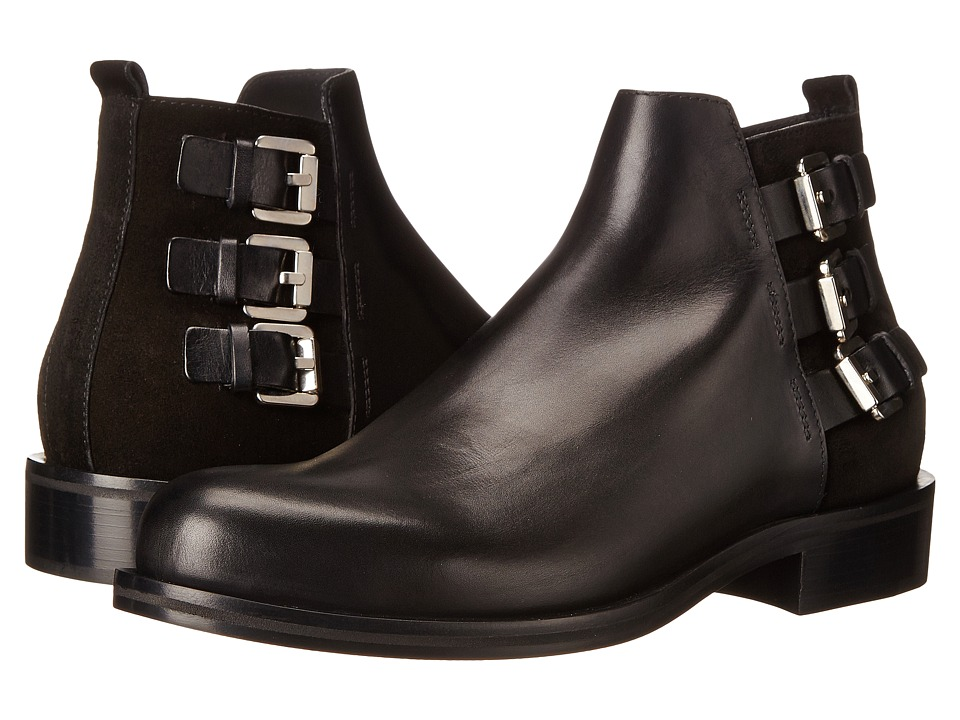 CoSTUME NATIONAL Triple Buckle Ankle Boot (Nero) Men