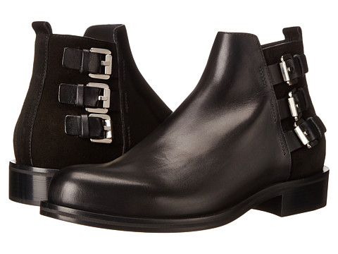 CoSTUME NATIONAL - Triple Buckle Ankle Boot (Nero) Men's Boots
