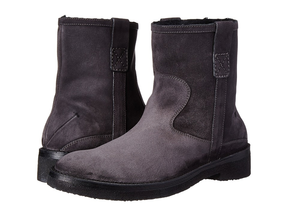 CoSTUME NATIONAL - Suede Boot (Asphalt) Men's Boots