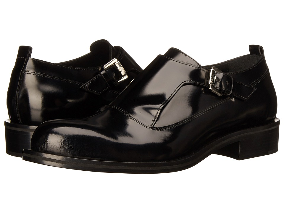 CoSTUME NATIONAL - Single Monk Strap Oxford (Nero) Men's Shoes