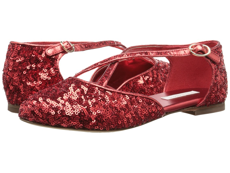 Dolce & Gabbana Kids Paillettes Sandal (Little Kid/Big Kid) (Ruby Red) Girls Shoes