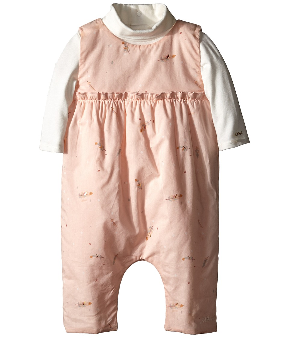 Chloe Kids - Printed Combi Long Sleeve Inner Two-Piece Set (Infant) (Pale Pink) Girl's Active Sets