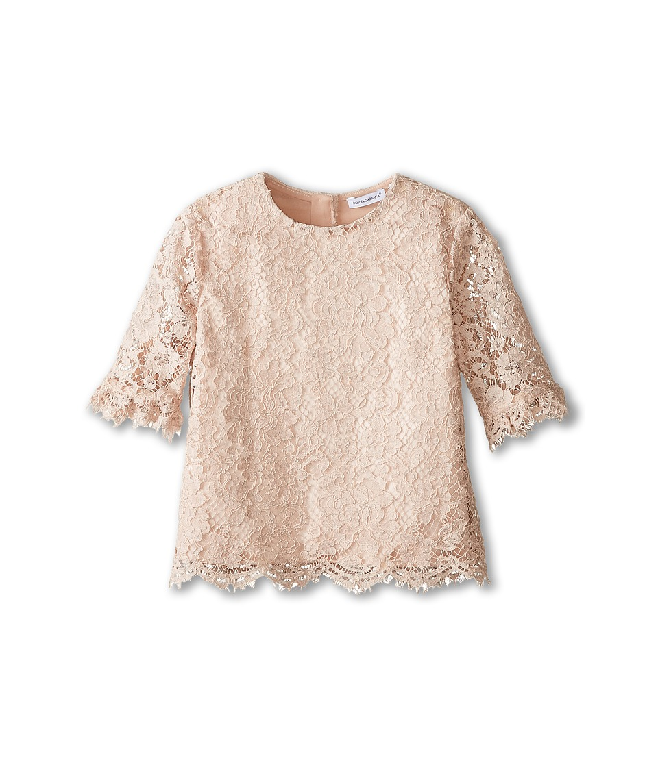 Dolce & Gabbana Kids - Ceremony Lace Blouse (Toddler/Little Kids) (Pale Pink) Girl's Blouse