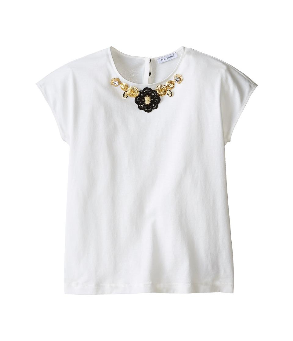 Dolce & Gabbana Kids - City Jeweled T-Shirt (Big Kids) (White) Girl's T Shirt