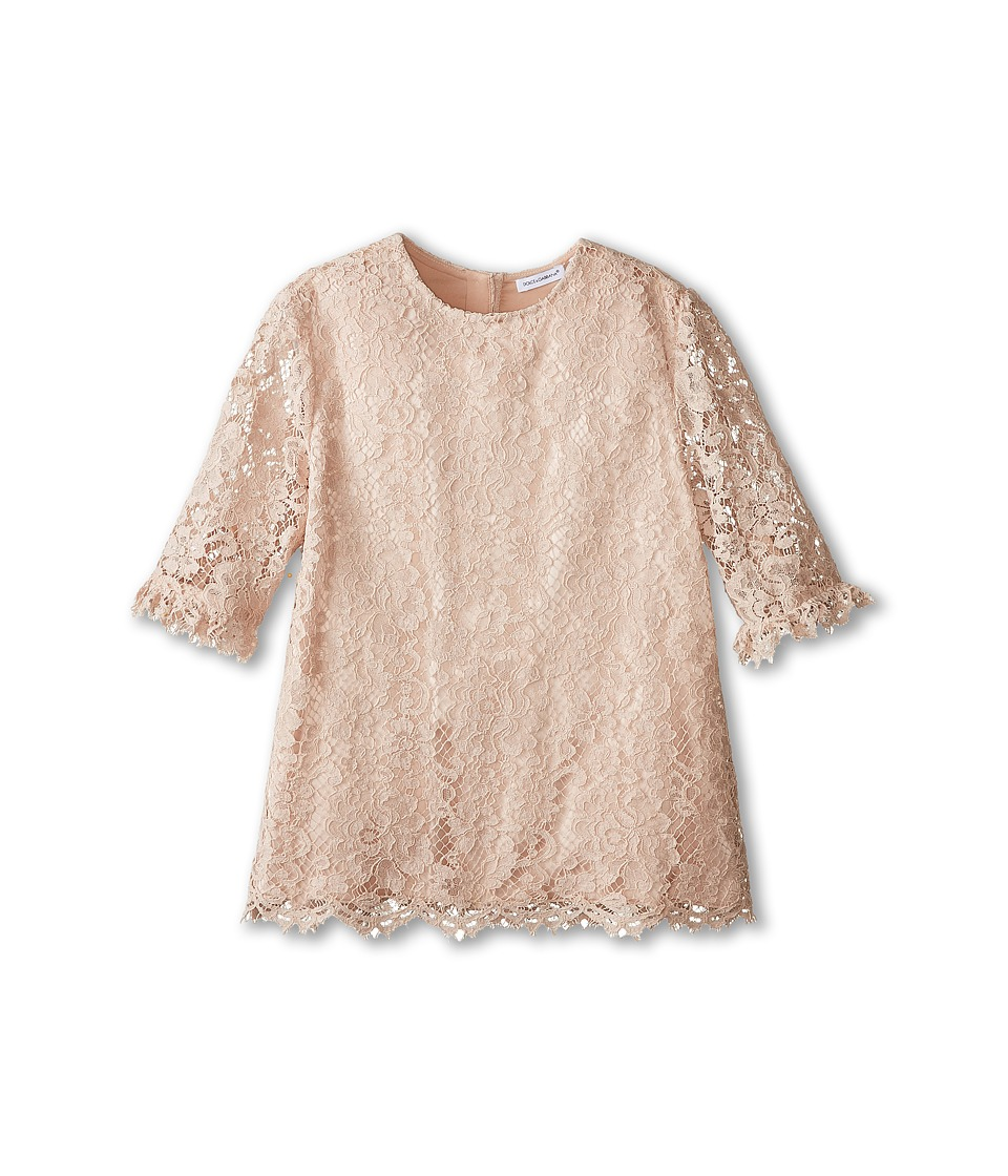 Dolce & Gabbana Kids - Ceremony Lace Blouse (Big Kids) (Pale Pink) Girl's Blouse