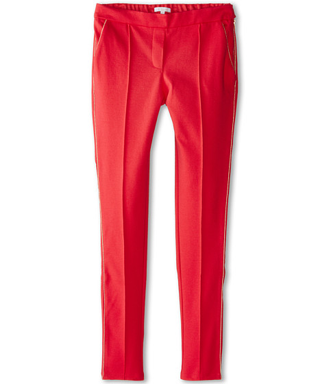 Chloe Kids - Milano Fabric Trousers w/ Side Zip (Big Kids) (Red) Girl's Casual Pants