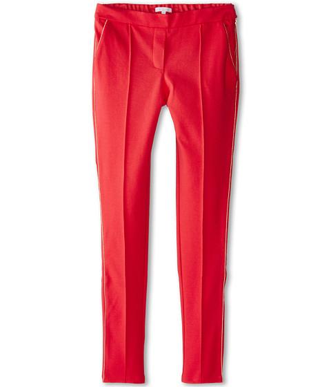 Chloe Kids - Milano Fabric Trousers w/ Side Zip (Big Kids) (Red) Girl's Casual Pants