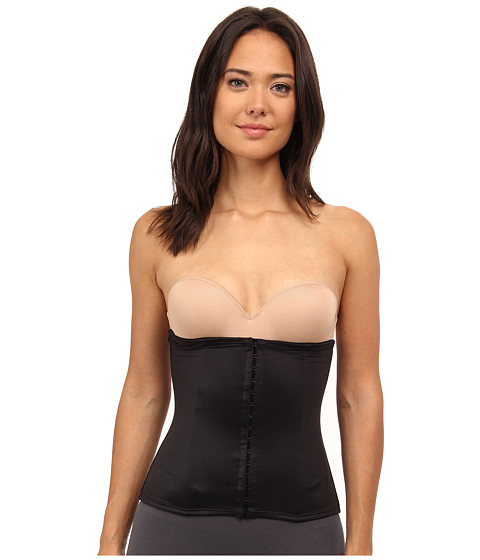 TC Fine Intimates - Extra Firm Hook and Eye Waist Cincher (Black) Women's Underwear