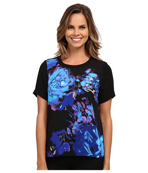 Adrianna Papell - Placement Print Tee (Purple Multi) Women