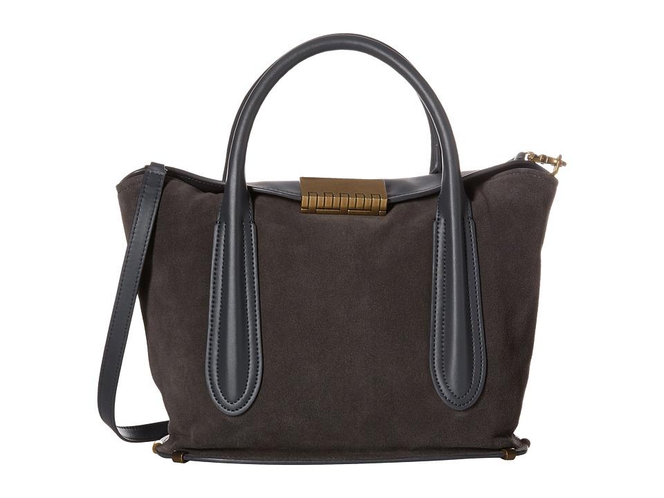 ZAC Zac Posen - Blythe Fold-Over Satchel (Slate) Satchel Handbags