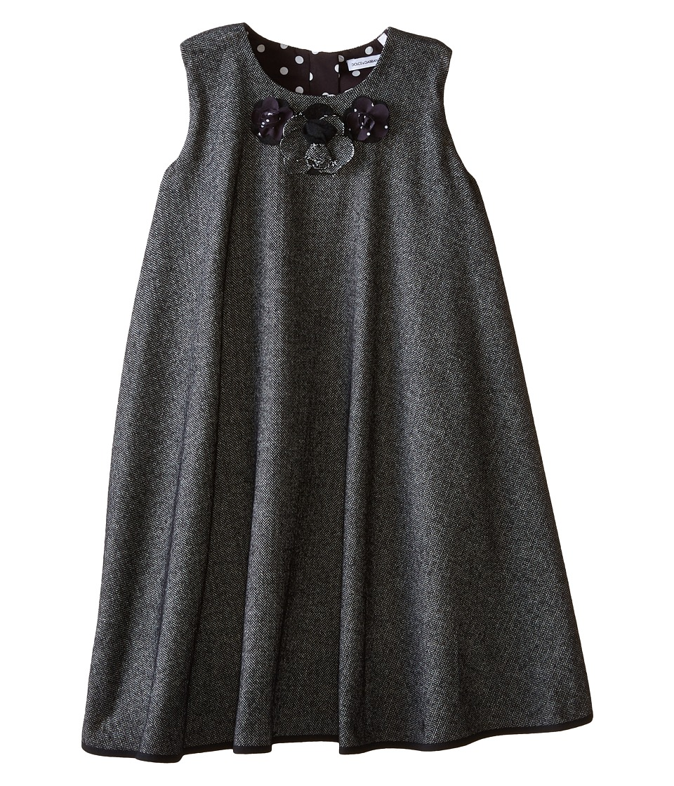 Dolce & Gabbana Kids - Back to School Flared Dress (Toddler/Little Kids) (Grey) Girl's Dress