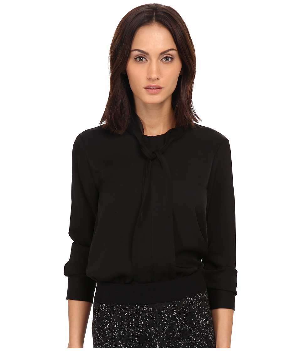 Theory - Raashida Top (Black) Women's Clothing