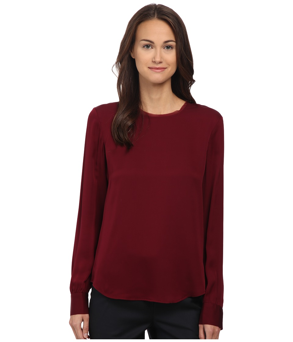 Theory - Eri Top (Cherrywood) Women's Clothing