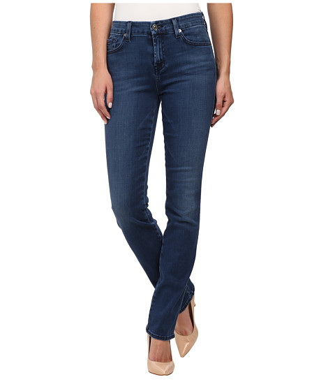 7 For All Mankind - Kimmie Straight in Pure Medium Vintage Sateen (Pure Medium Vintage Sateen) Women
