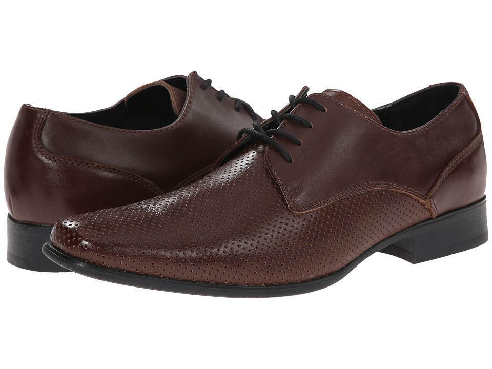 Calvin Klein Brodie Perforated Leather Derby Shoes