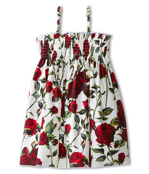 Dolce & Gabbana - Ceremony Cover-Up Dress (Toddler/Little Kids) (White/Rose Print) Women's Dress