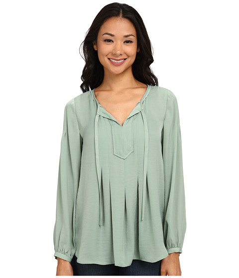 TWO by Vince Camuto - Long Sleeve Charmeuse Peasant Blouse (Frosted Pine) Women's Blouse
