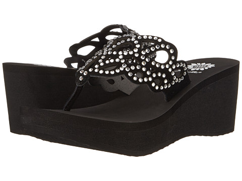 Yellow Box - Claudine (Black) Women's Wedge Shoes