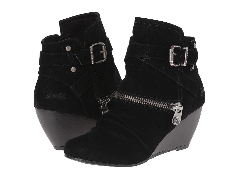 Blowfish - Bayard (Black Fawn PU) Women's Zip Boots