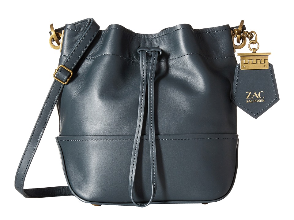 ZAC Zac Posen - Eartha Envelope Mini Drawstring (Dark Teal) Drawstring Handbags