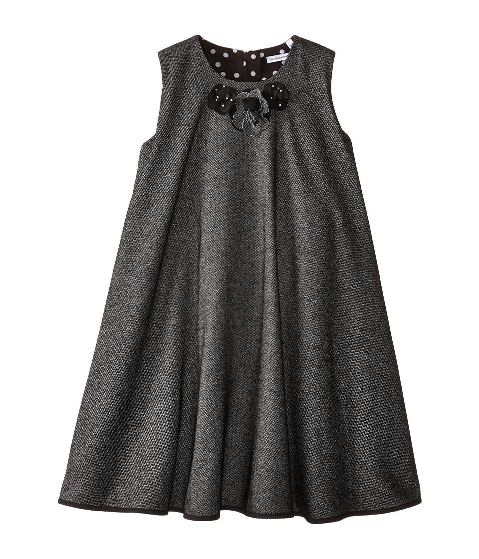 Dolce & Gabbana Kids - Back to School Flared Dress (Big Kids) (Grey) Girl's Dress