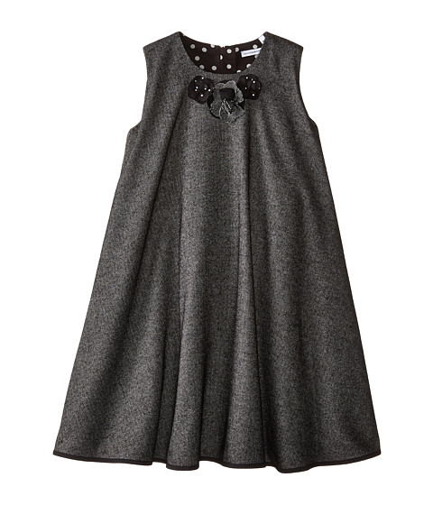 Dolce & Gabbana - Back to School Flared Dress (Big Kids) (Grey) Women