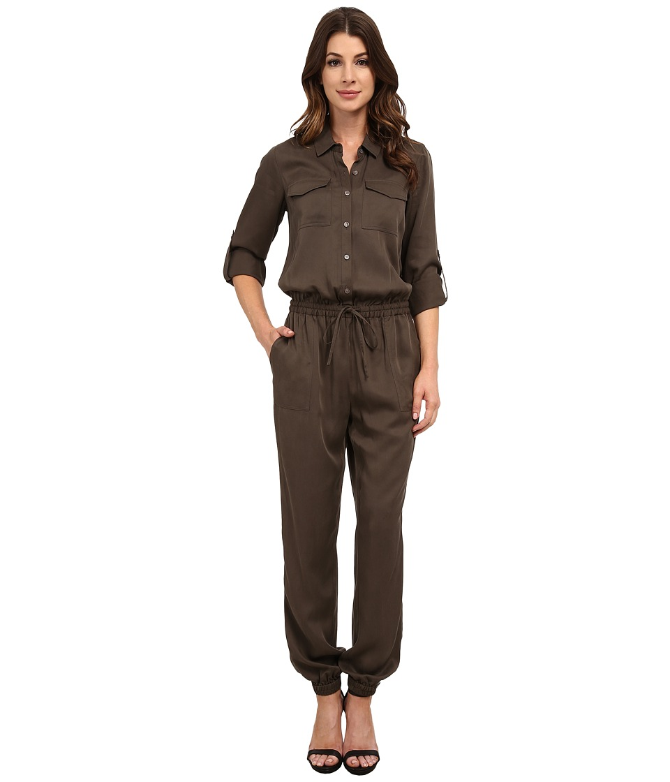 TWO by Vince Camuto - Soft Tencel Utility Drawstring Jumpsuit (Dark Grove) Women