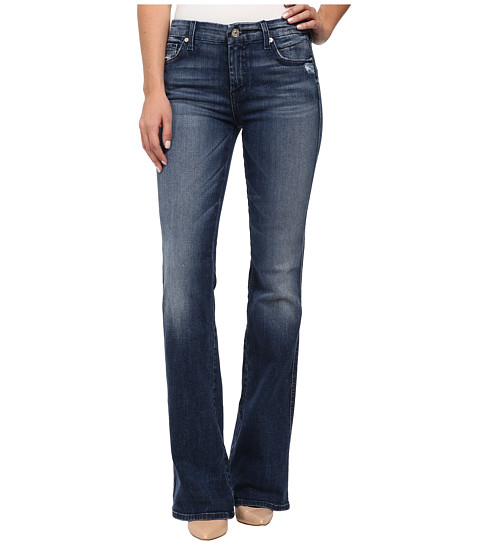 7 For All Mankind - A Pocket with Navy A in Lake Blue (Lake Blue) Women