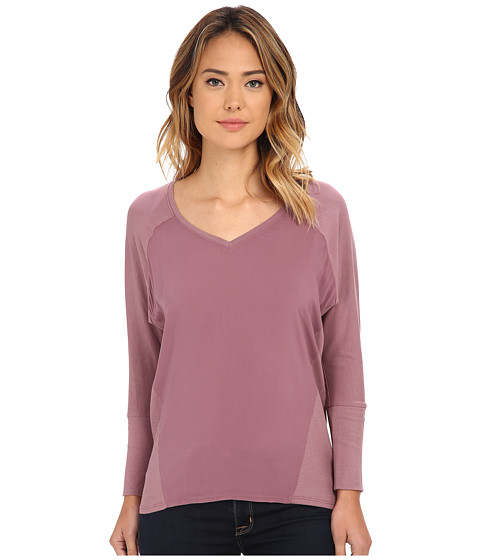 TWO by Vince Camuto - V-Neck Mixed Media Saturday Shirt (Ashbury) Women