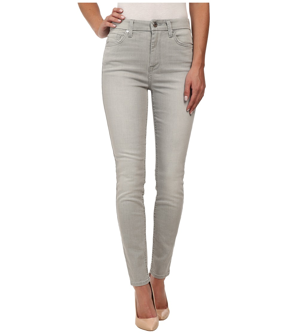 7 For All Mankind - The High Waist Ankle Skinny in Distressed Grey Clean (Distressed Grey Clean) Women