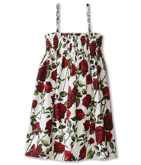 Dolce & Gabbana - Ceremony Cover-Up Dress (Big Kids) (White/Rose Print) Women