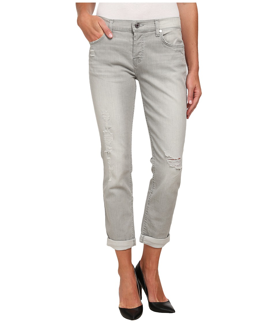 7 For All Mankind - Josefina with Destroy in Distressed Grey Destroy (Distressed Grey Destroy) Women