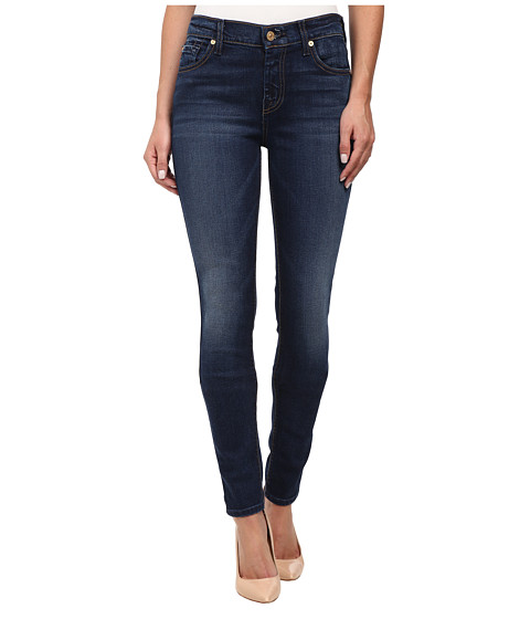 7 For All Mankind - The Skinny with Spice Squiggle in Slim Illusion Rich Vibrant Blue (Slim Illusion Rich Vibrant Blue) Women