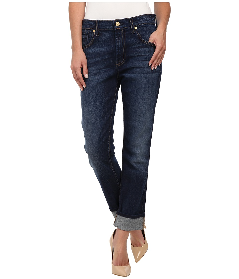 7 For All Mankind - The Relaxed Skinny in Slim Illusion Rich Vibrant Blue (Slim Illusion Rich Vibrant Blue) Women