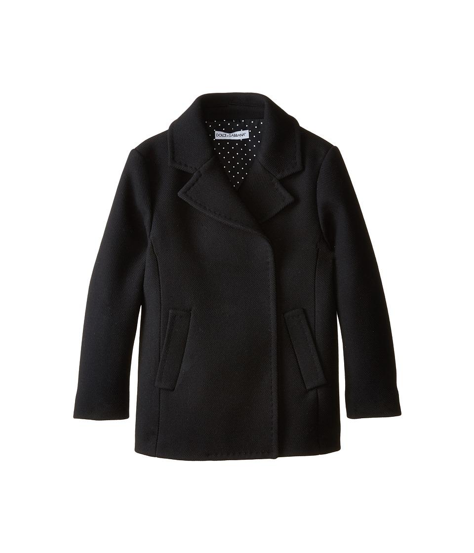 Dolce & Gabbana - City Peacoat (Big Kids) (Black) Women's Coat