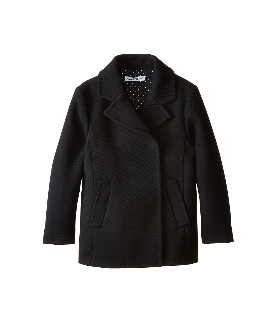 Dolce & Gabbana - City Peacoat (Big Kids) (Black) Women