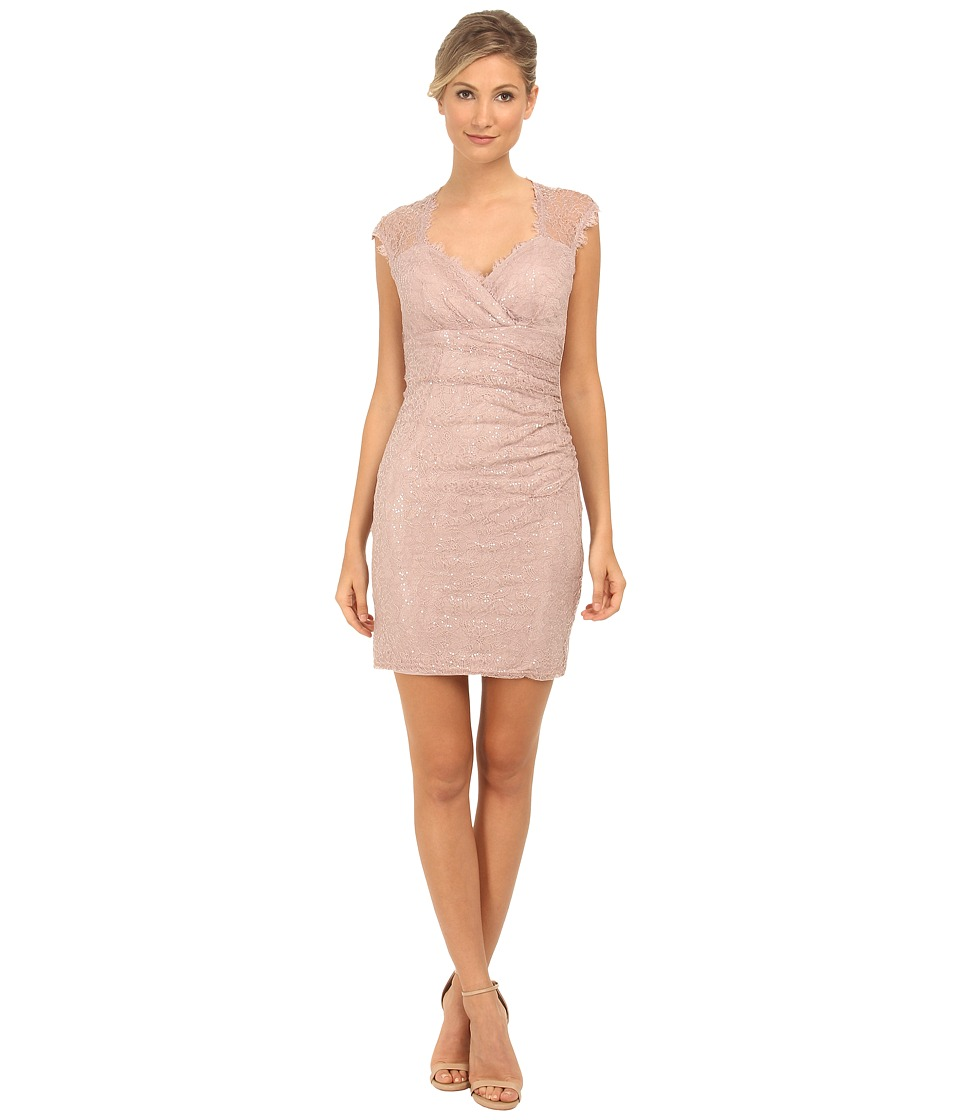 rsvp - Sequin Short Dress with Keyhole Back (Blush) Women