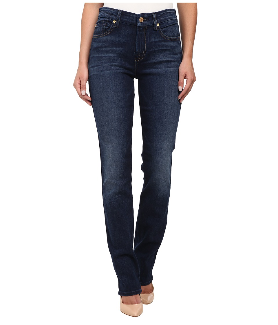 7 For All Mankind - Kimmie Straight in Slim Illusion Rich Vibrant Blue (Slim Illusion Rich Vibrant Blue) Women's Jeans