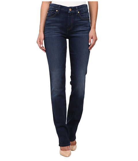 7 For All Mankind - Kimmie Straight in Slim Illusion Rich Vibrant Blue (Slim Illusion Rich Vibrant Blue) Women
