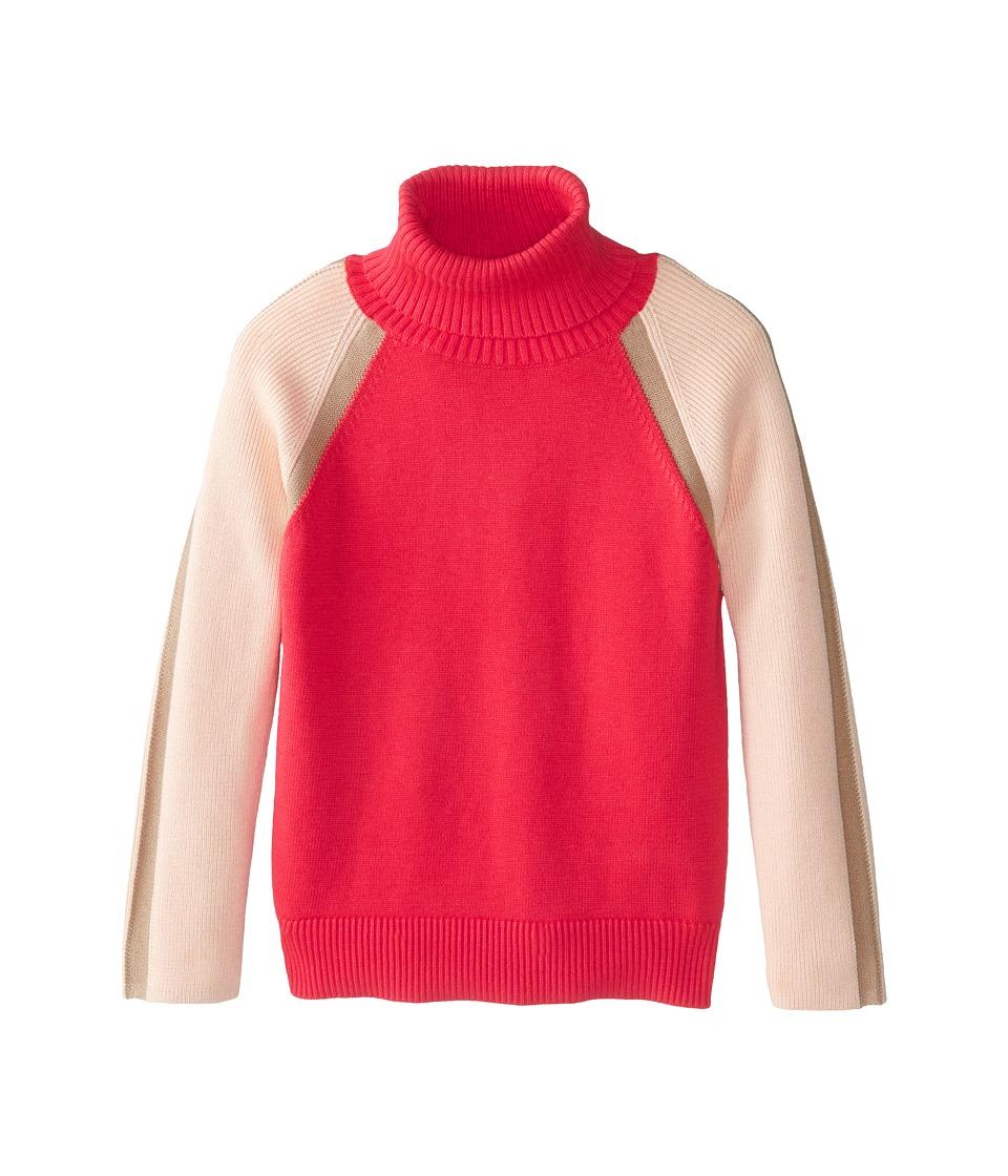 Chloe Kids - Tricolor Turtleneck Sweater (Little Kids/Big Kids) (Red) Girl