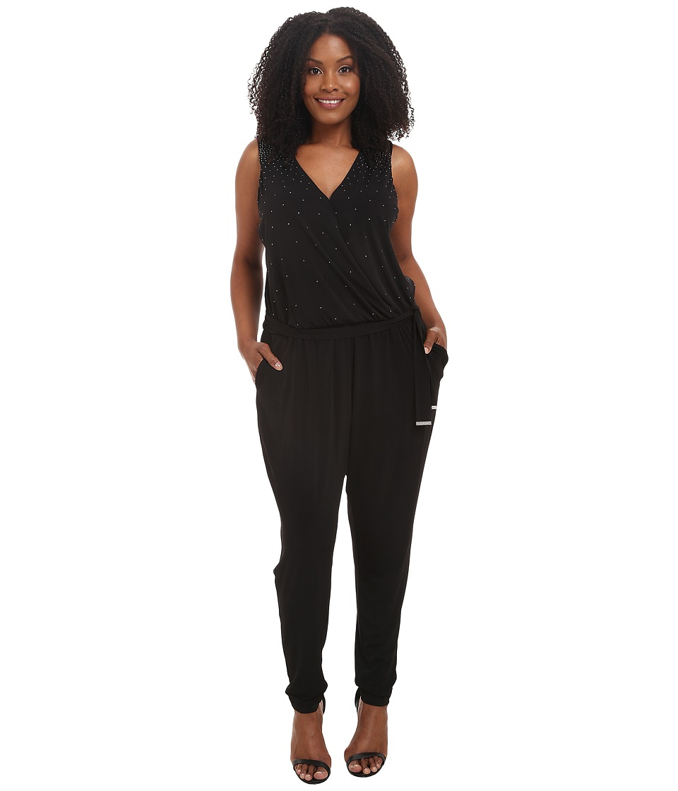 MICHAEL Michael Kors - Plus Size Studded Jumpsuit (Black) Women's Jumpsuit & Rompers One Piece
