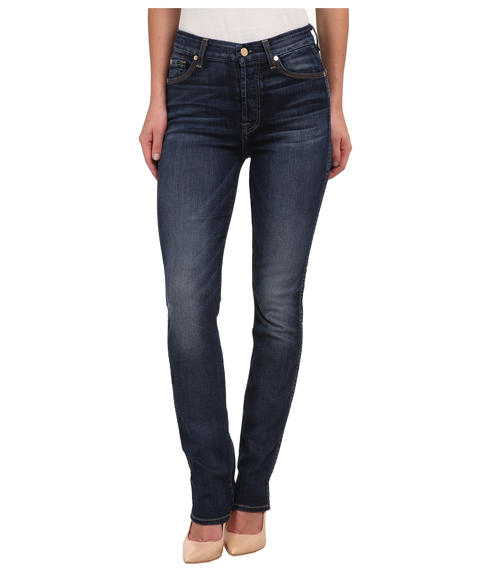 7 For All Mankind - High Waist Vintage Straight in Marie Vintage Blue (Marie Vintage Blue) Women's Jeans