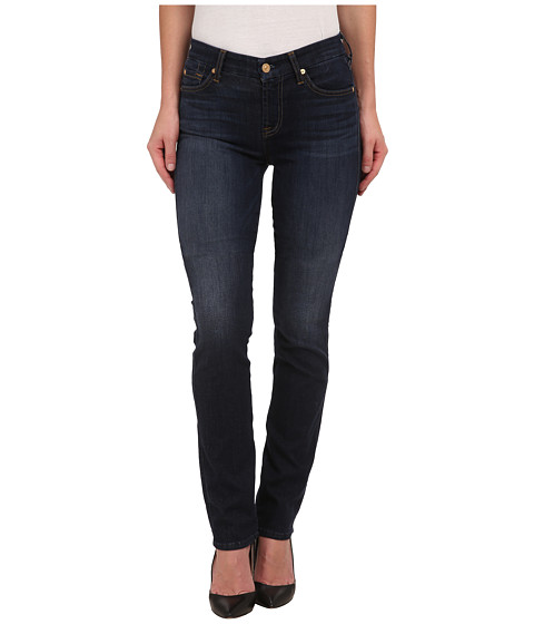 7 For All Mankind - Kimmie Straight in Slim Illusion Tried/True Blue (Slim Illusion Tried/True Blue) Women