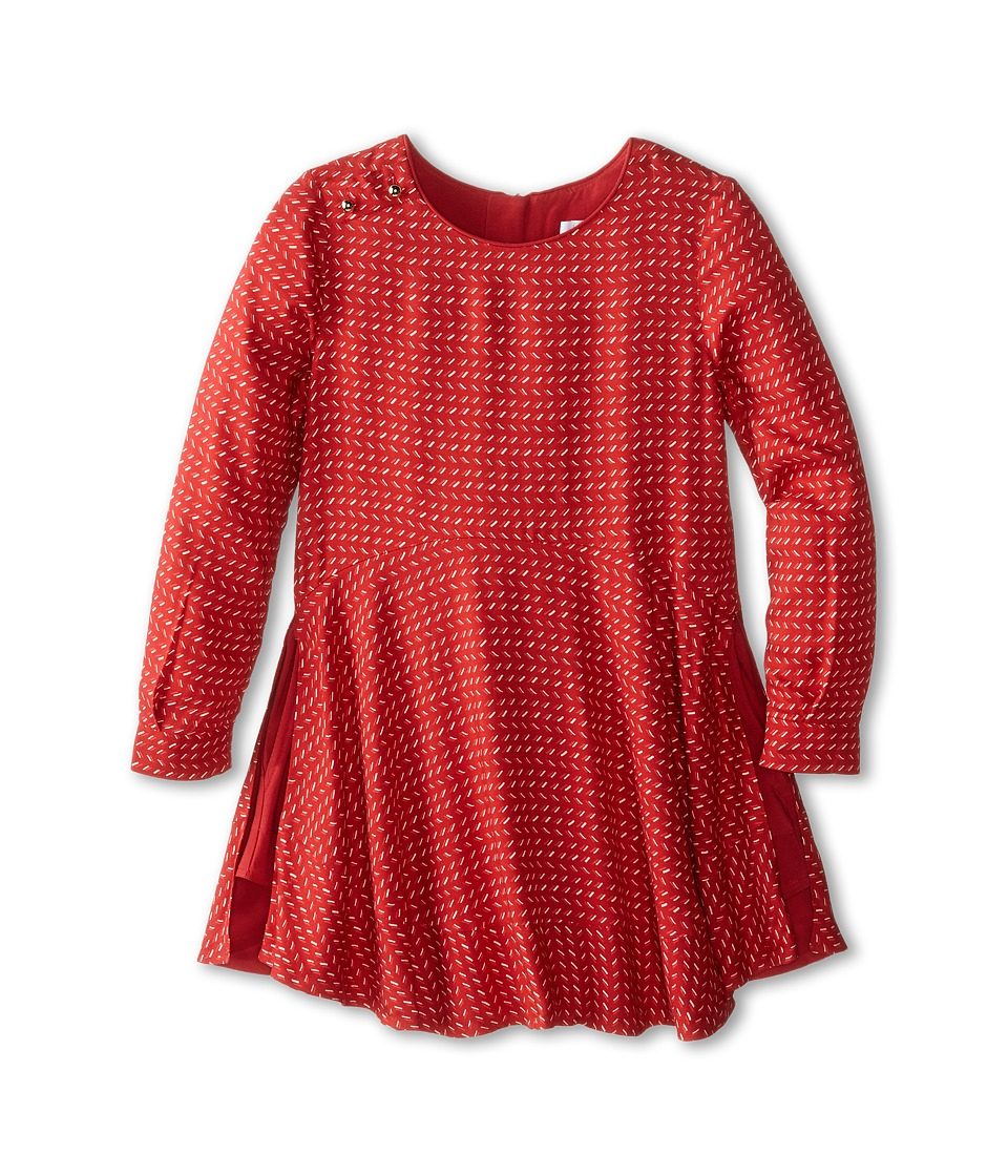 Chloe Kids - Printed Woven Flared Bottom Dress (Little Kids/Big Kids) (Dark Red) Girl's Dress