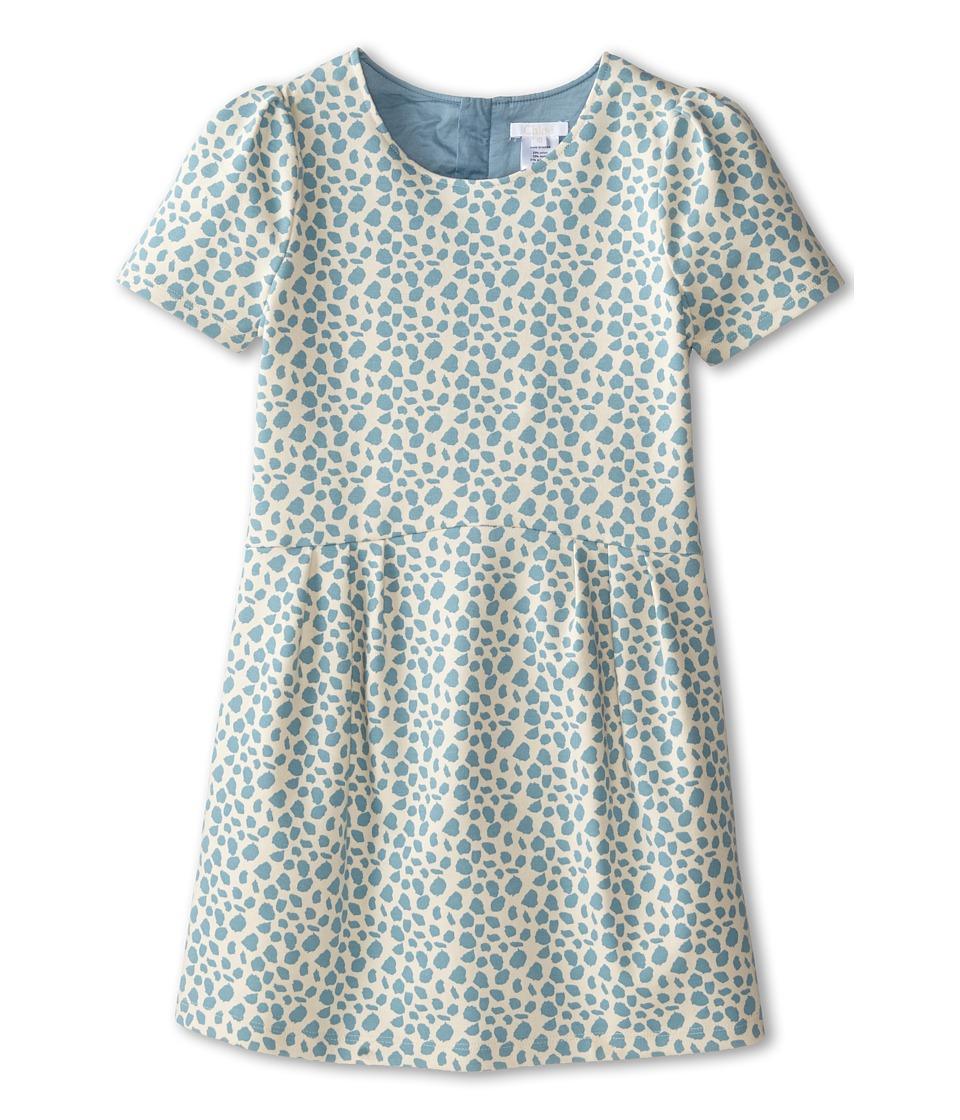 Chloe Kids - Milano Printed Fabric Dress (Little Kids/Big Kids) (Blue) Girl's Dress